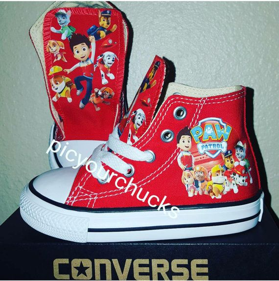 cb9c3eaae6b55e Toddler Kids Paw Patrol Custom Converse by PicyourChucks on Etsy