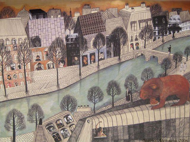 Una de mis ilustradoras favoritas.  Un Lion a Paris, Beatrice Alemagna