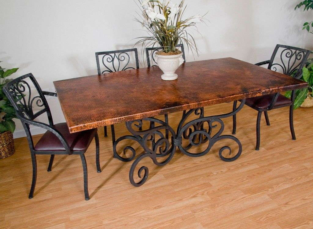 40+ Rod iron dining table and chairs Top