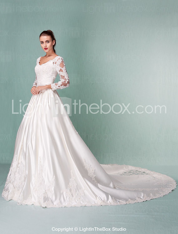 65 % off Lanting Bride® Ball Gown Petite / Plus Sizes Wedding Dress ...