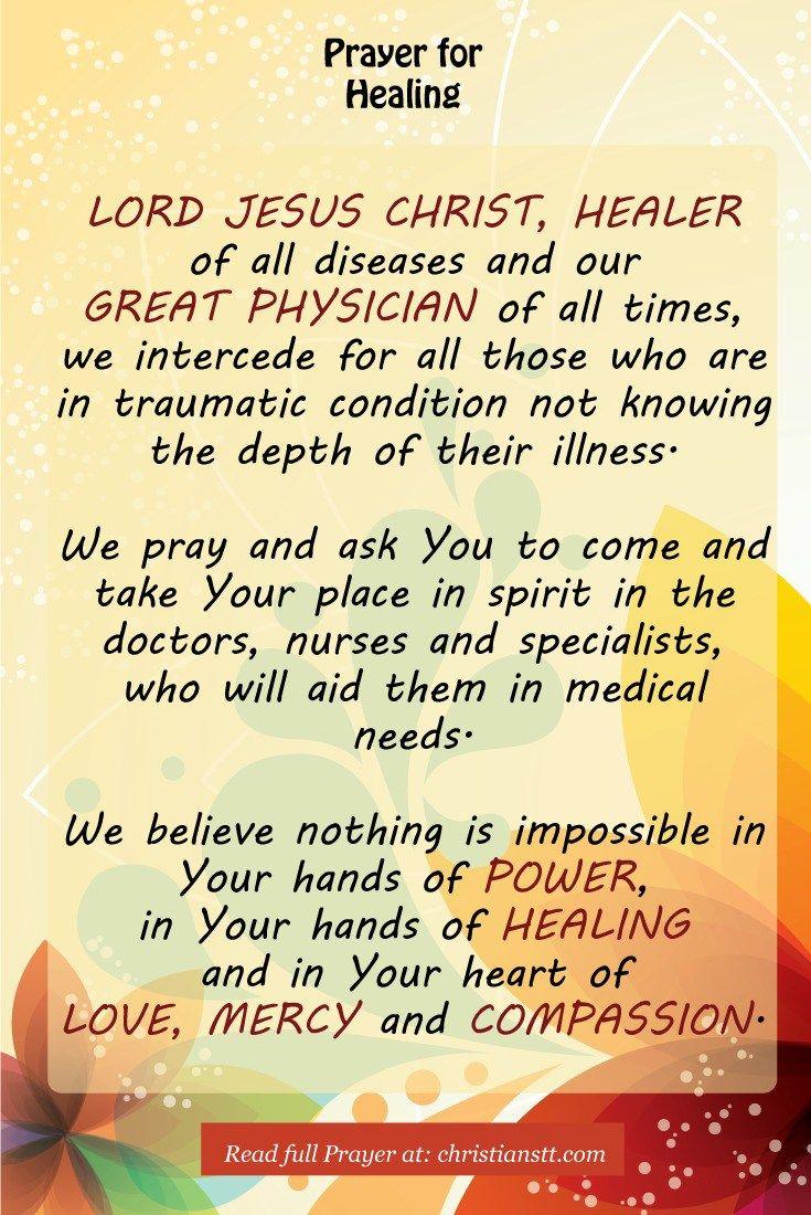Catholic Bible Verses About Healing The Sick