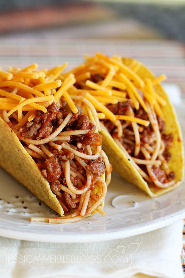 Spaghetti Tacos Jw Illustrations Taco Spaghetti Mexican Food Recipes Food