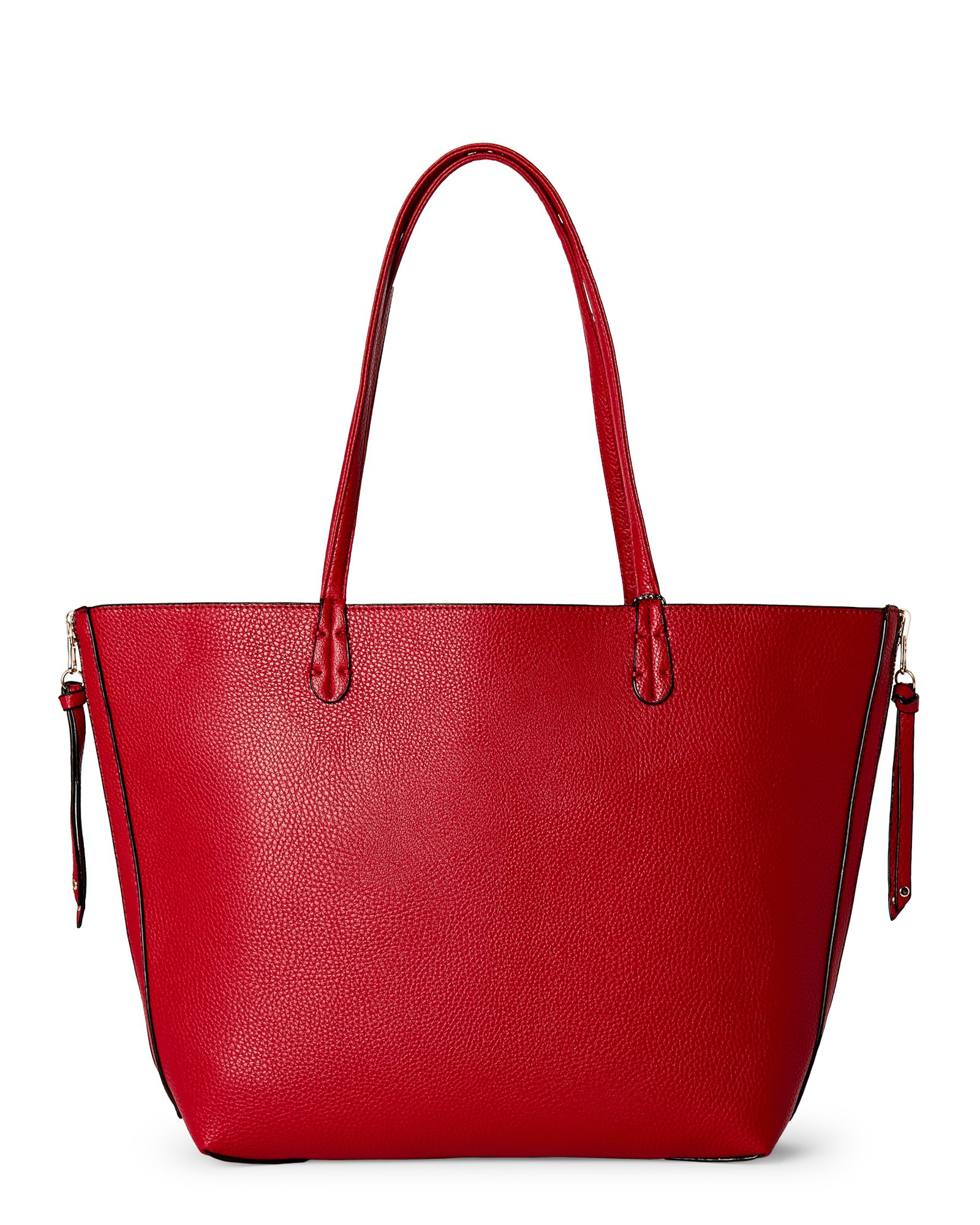 Imoshion Red/Black Faux Leather Reversible Tote