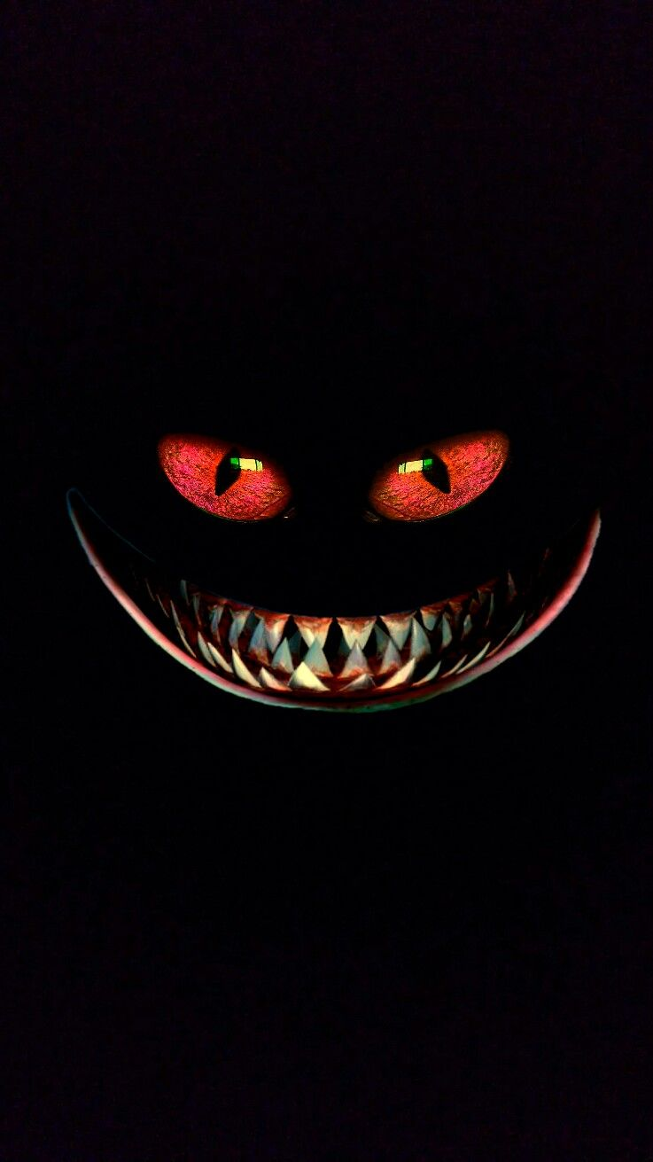 Iphone Vertical Wallpaper Red Eyes Toothy Grin In 2019