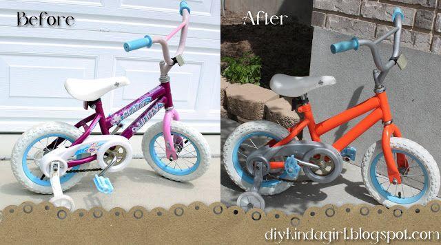 How To Paint A Bike Diy Kinda Girl Kids Bike Makeover Biking