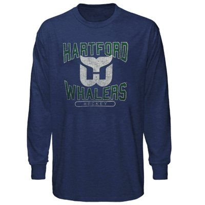 cda80fa39615a 47 Brand Hartford Whalers Long Sleeve Vintage T-Shirt - Navy Blue ...