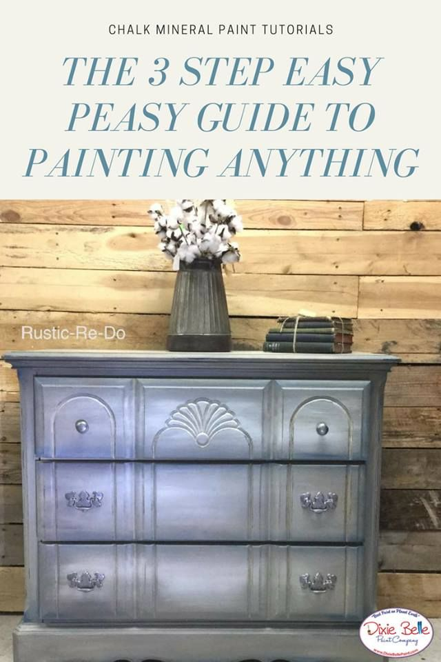 Chalk Mineral Paint is super easy to