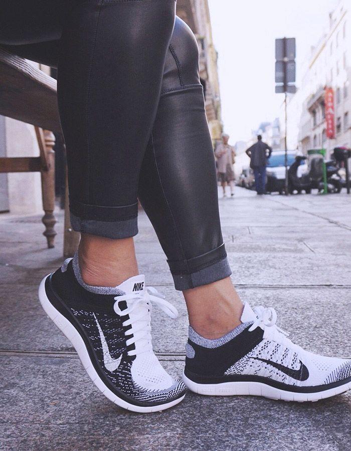 Flyknit Libre 4.0 Para Mujer En Blanco Y Negro Pantalones A Cuadros 2015 precio barato InGjLYKL