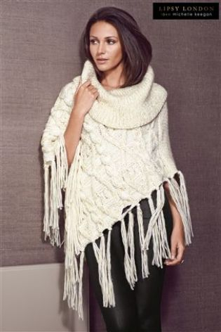 Buy Michelle Keegan Cowl Neck Poncho from the Next UK online shop