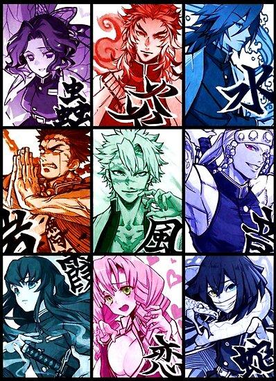 Demon Slayer Hashira Pillars Poster