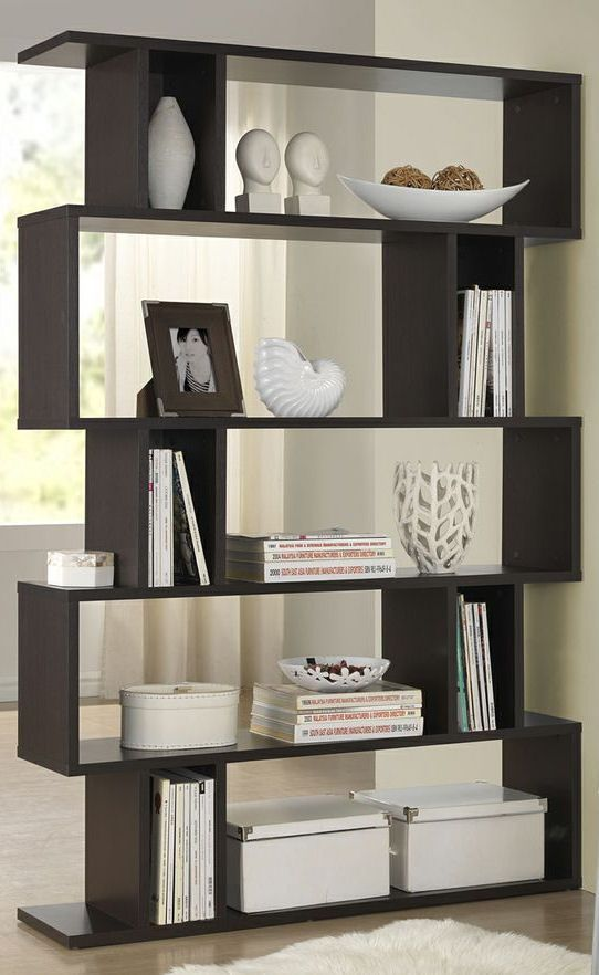 Zig Zag Modern Bookshelf Great For A Room Divider Beautiful Homes Modern Bookshelf