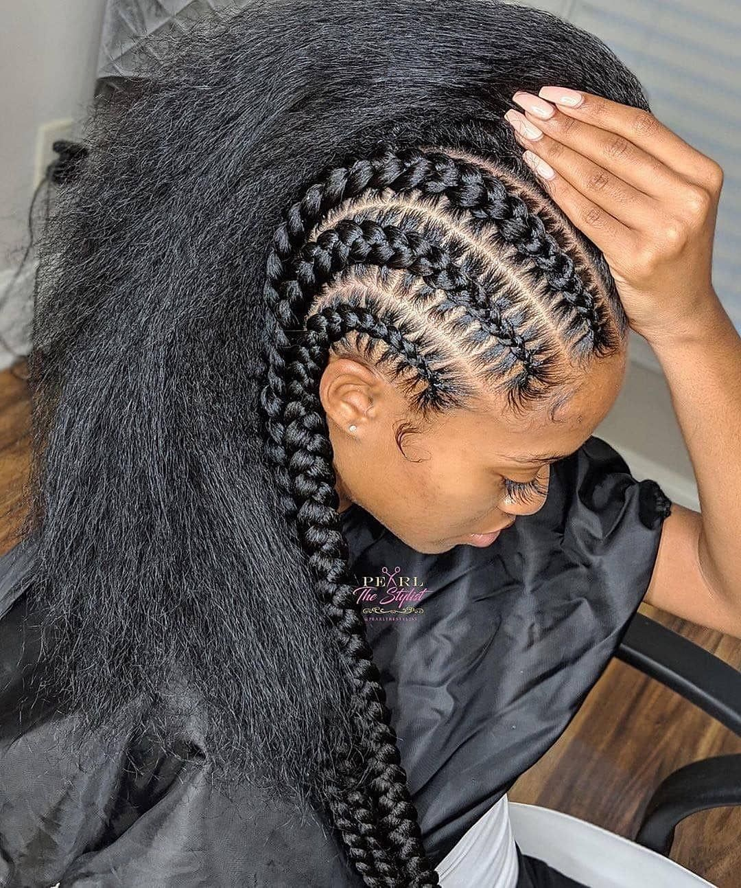 5 Packs Jumbo Box Braids Hair Feed In Braids Hairstyles Braided Hairstyles Natural Hair Styles