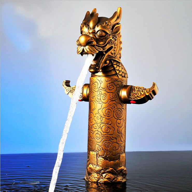 High Quality Artistic Faucet, Bronze Finishing Brass Material Dragon Shape  Faucet, L16113