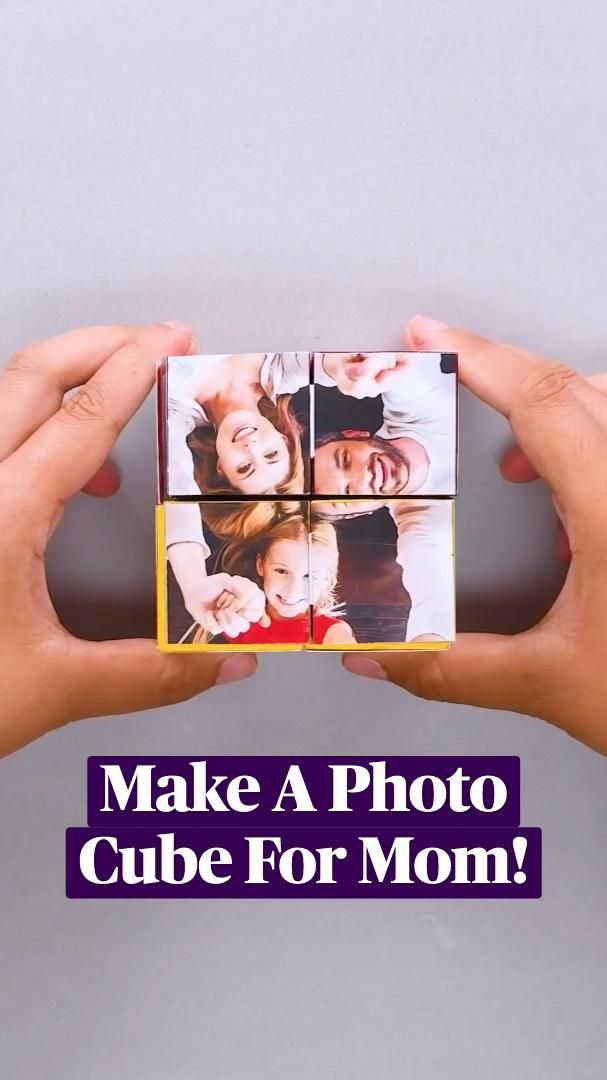 Make A Photo Cube or Photo Chandelier For Mom!