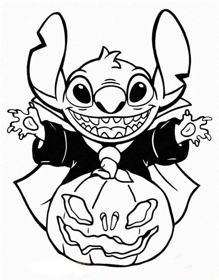 Halloween Coloring Pages To Print Disney Halloween Coloring Pages Printable Stitch D Halloween Coloring Pages Disney Coloring Pages Halloween Coloring Pictures