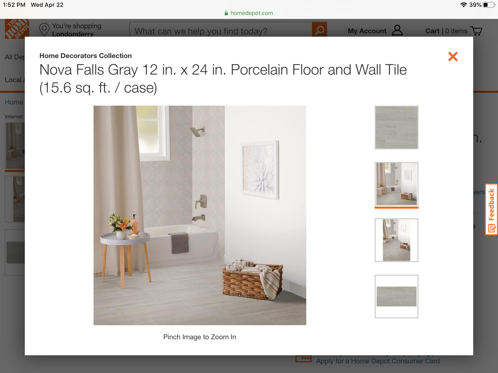 Possible Kids Bathroom Floor 12x24 Inch Tiles In 2020 Home Decorators Collection Floor And Wall Tile Wall Tiles