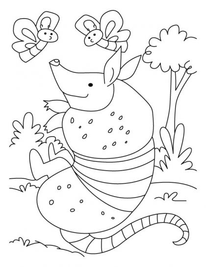 Armadillo Coloring Page Coloring Pages For Kids Coloring Pages