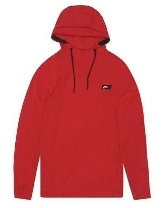 finest selection a5f8b f7d44 Nike Modern Pull Over Hoodie Mens University Red Sweatshirt ...