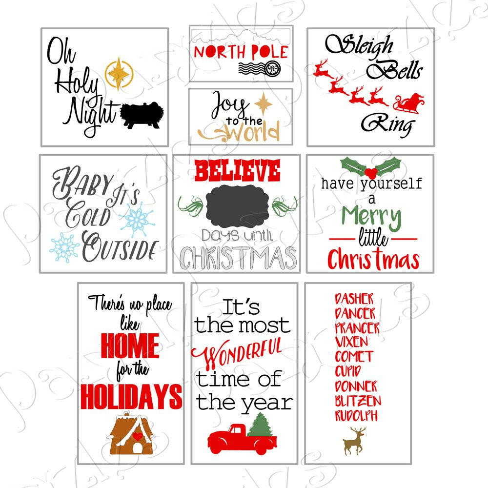 Christmas Cheer Vinyl Sign Collection WPC, SVG and AI