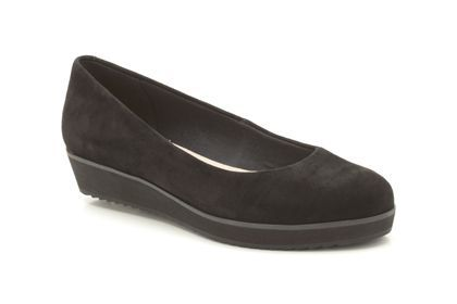 Womens Smart Shoes - Compass Zone in Black Suede from Clarks shoes