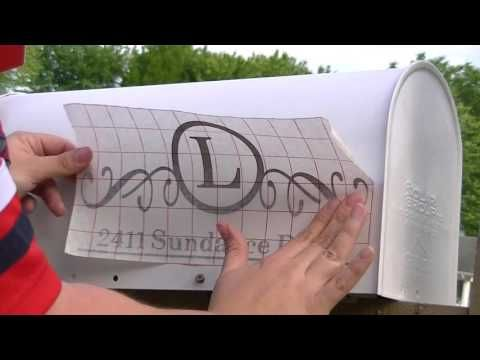 How to Install a Mailbox Monogram decal - YouTube