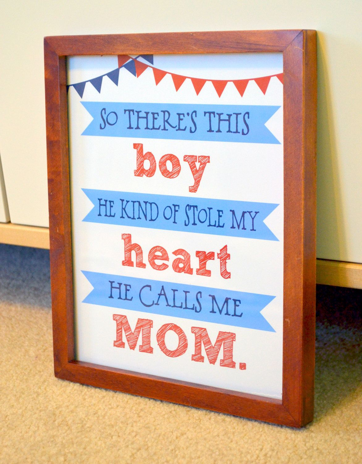 Quotes For Baby Shower Mom And Son 8X10 Print Mom And Son Quote He Calls Me Mom Baby