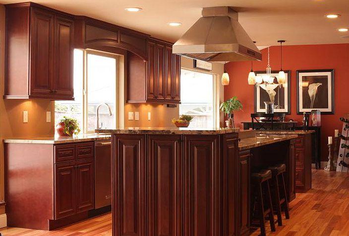 20 Stunning Kitchen Design Ideas With Mahogany Cabinets   Kitchen ...