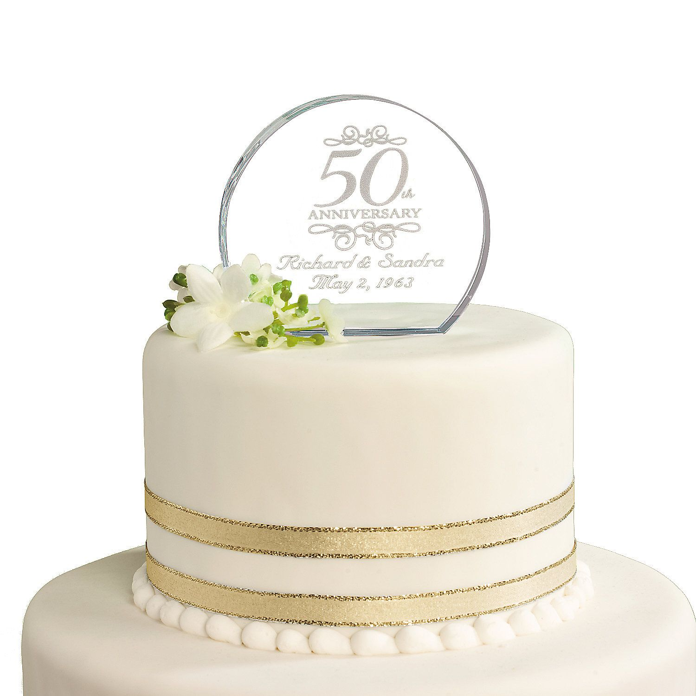 Personalized 50th Anniversary Cake Topper Orientaltrading
