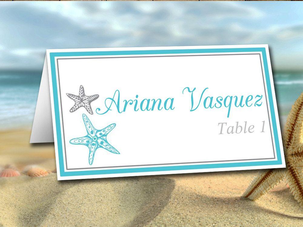 DIY Wedding Place Card Template