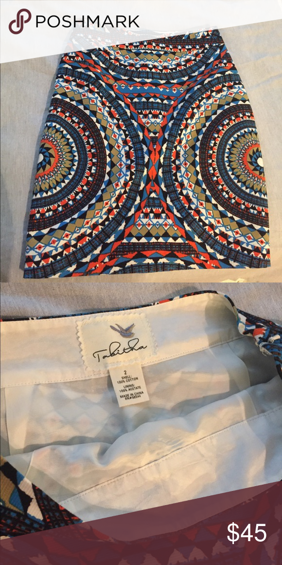 Anthropologie Olmeda pencil skirt size 2 Only worn once - beautiful skirt just too small for me. Anthropologie Skirts Pencil