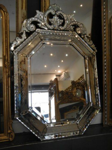 miroir v nitien du 19e si cle miroirs anciens pinterest miroirs v nitiens miroirs et. Black Bedroom Furniture Sets. Home Design Ideas