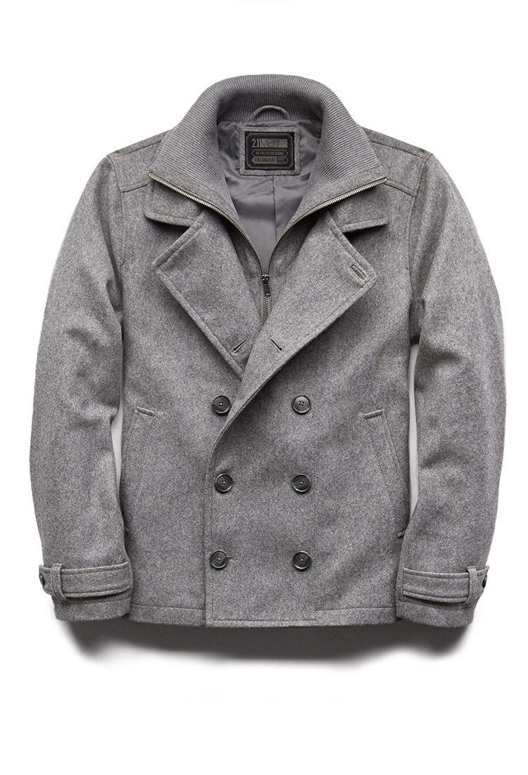 Crisp Wool-Blend Coat | 21 MEN - 2000128443