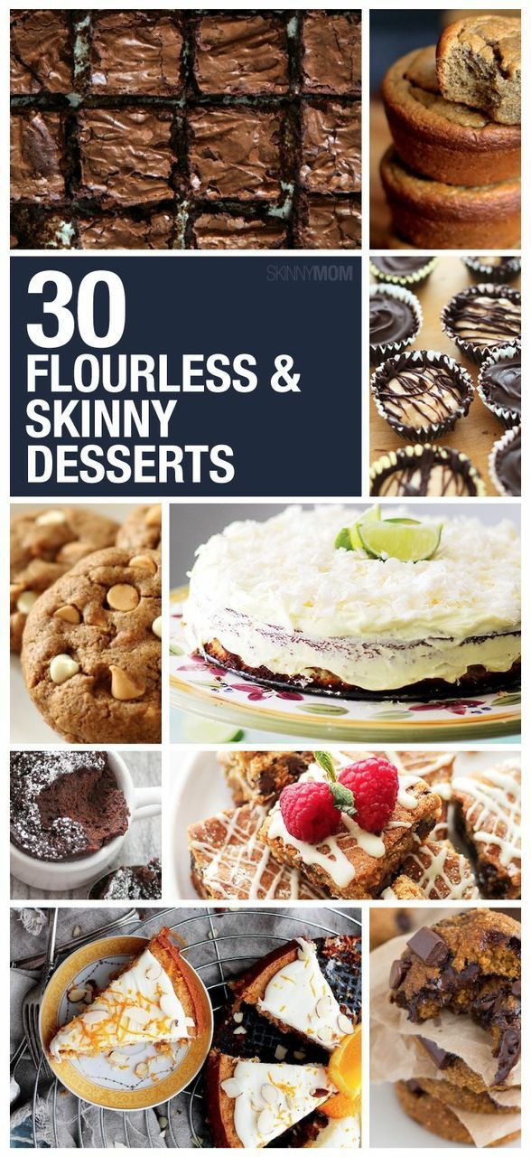 These healthy dessert recipes are delicious and are made without flour!