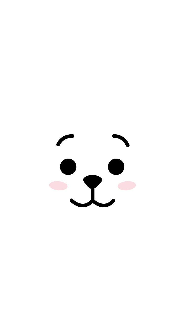 Bts Bt21 Lockscreen Wallpaper Kpop Rj Jin Boneka Hewan Ilustrasi Karakter Anak Binatang