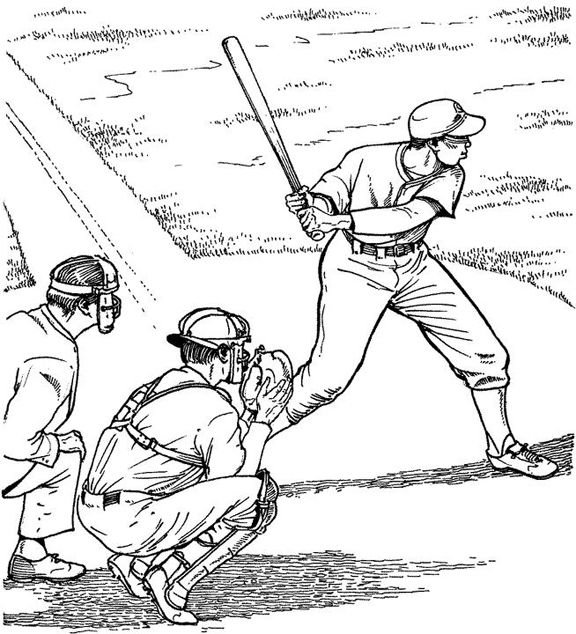 Batter Up Baseball Coloring Page Purple Kitty Sports Coloring