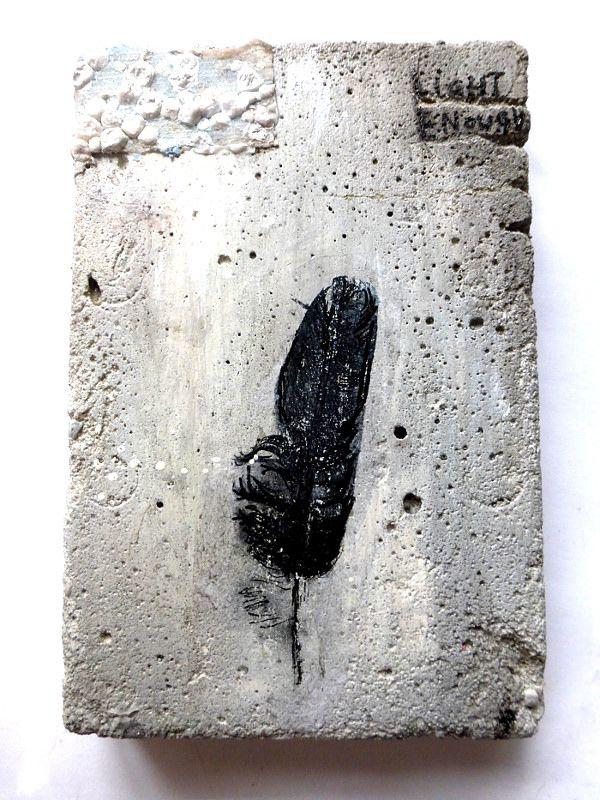 Ines Seidel. light enough | mixed media on concrete