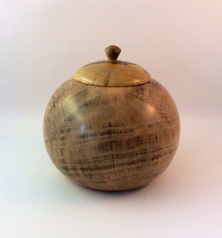 Wooden Pet Cremation urn, Australian Mango wood. Unique