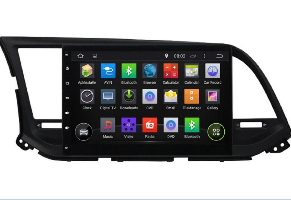 10 1 1024 600 Android 5 1 1 Quad Core Fit Hyundai Elantra 2016 2017 Car Dvd Navigation Gps Radio Audio Dvd Navi Head Car Stereo Gps Navigation Car Dvd Players