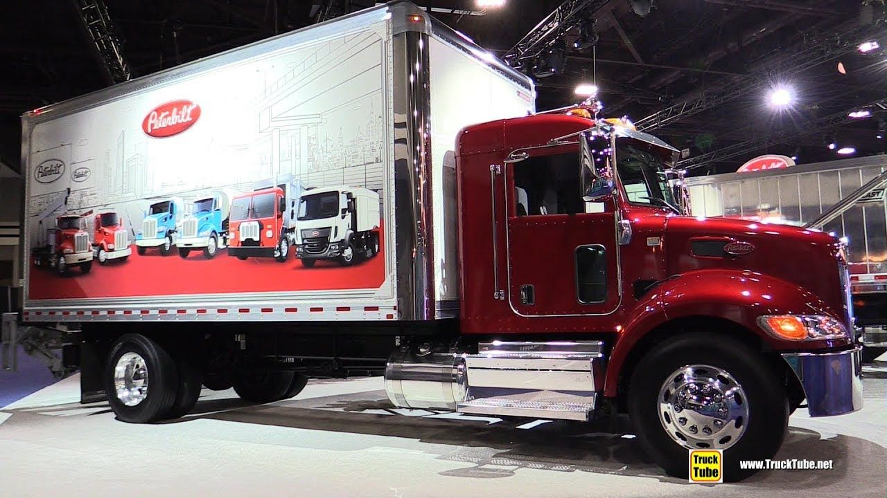 2020 peterbilt 337 delivery truck exterior interior
