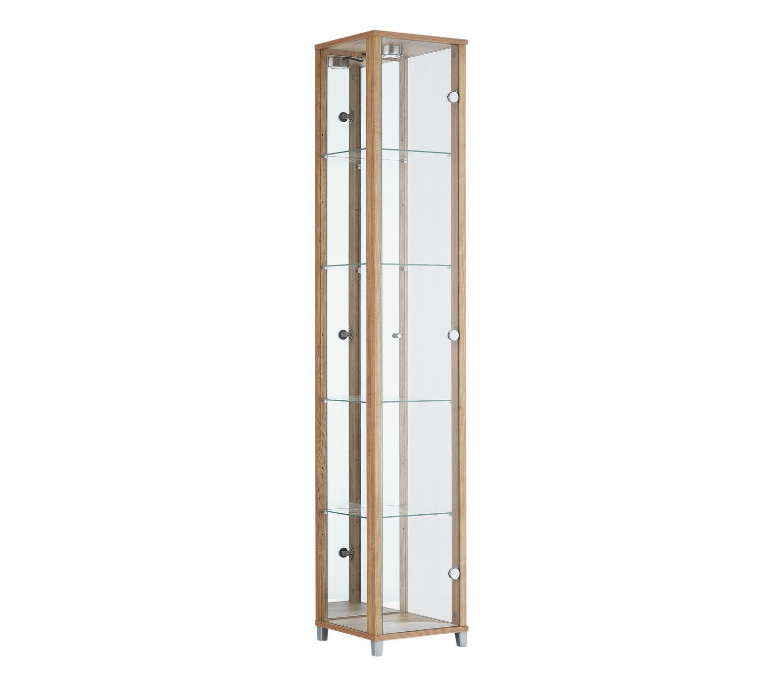 Buy HOME 1 Door Glass Display Cabinet