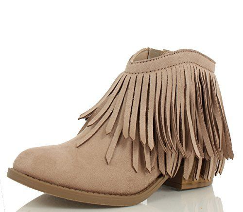 Soda Women's Jervis Faux Suede Double Fringe Moccasin Ankle Boots ...
