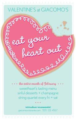 Valentines Party Flyer Valentines Day Flyer Valentine Restaurant Bake Sale Flyer Bake Sale Poster