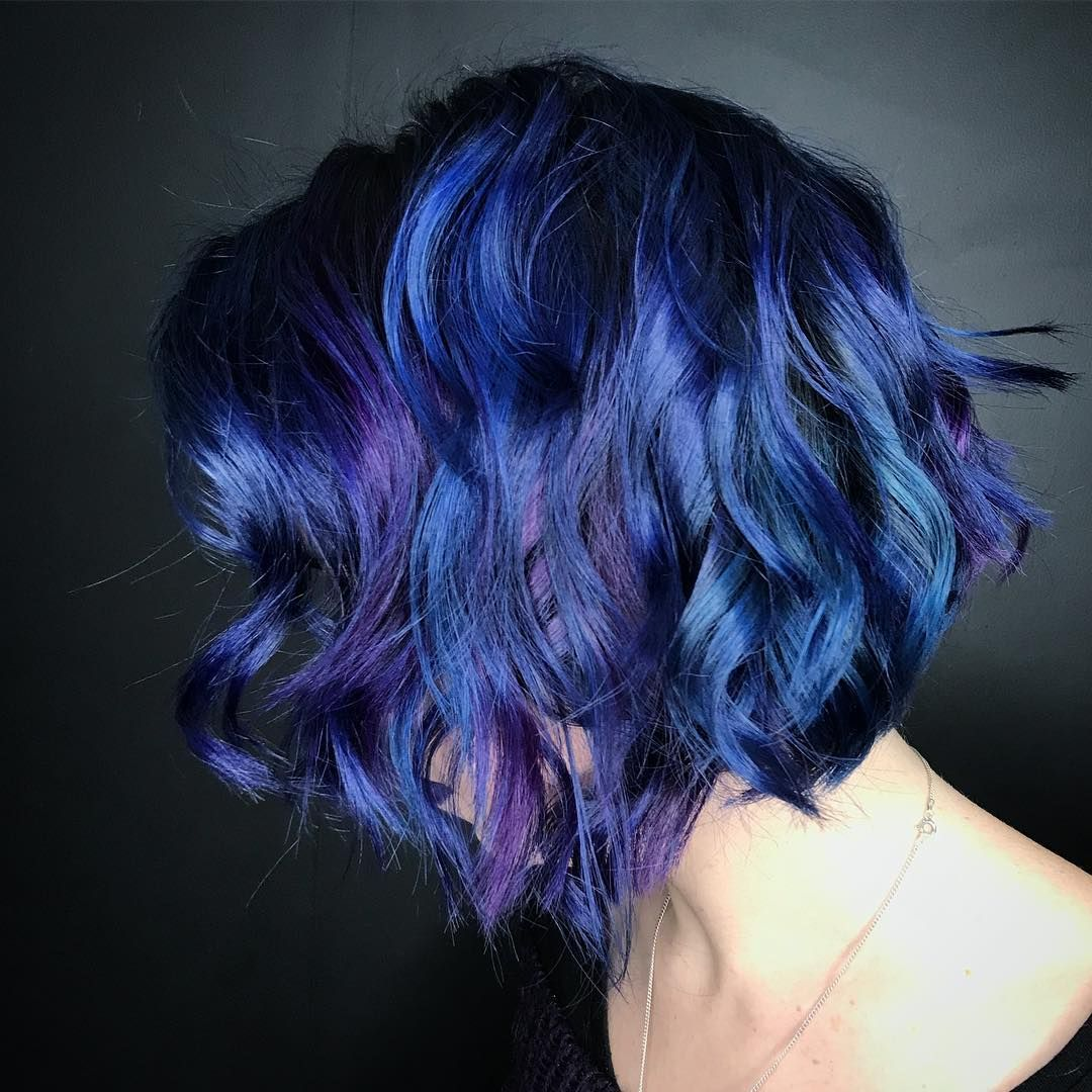 Dark Blue Hair Color Any K Blue Hair Dark Blue Hair Hair Color Blue