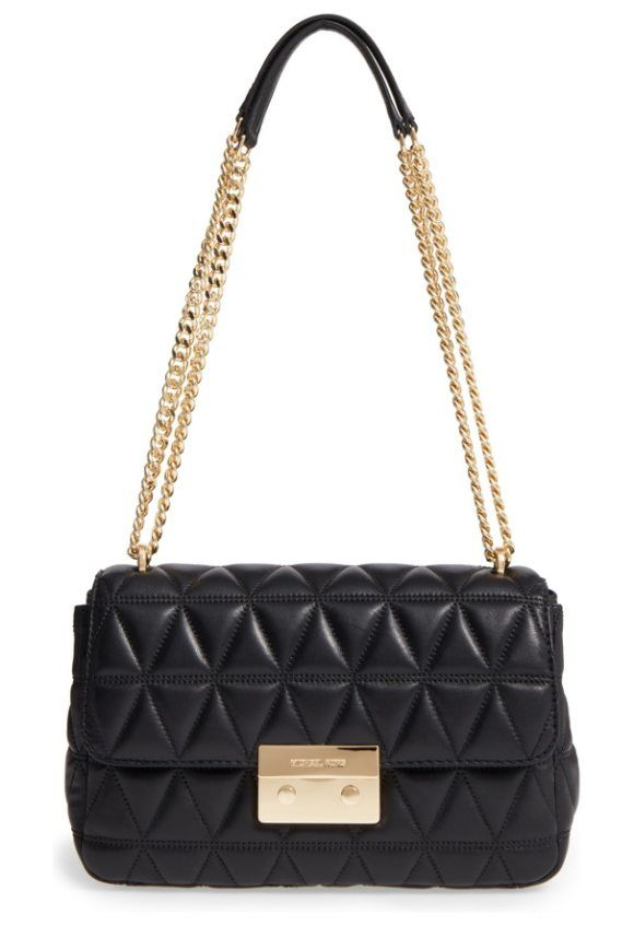 8e6ca306dcc1 large sloan quilted lambskin leather shoulder bag by MICHAEL Michael Kors.  Diamond-quilted lambskin heightens the vintage sophistication of this ...