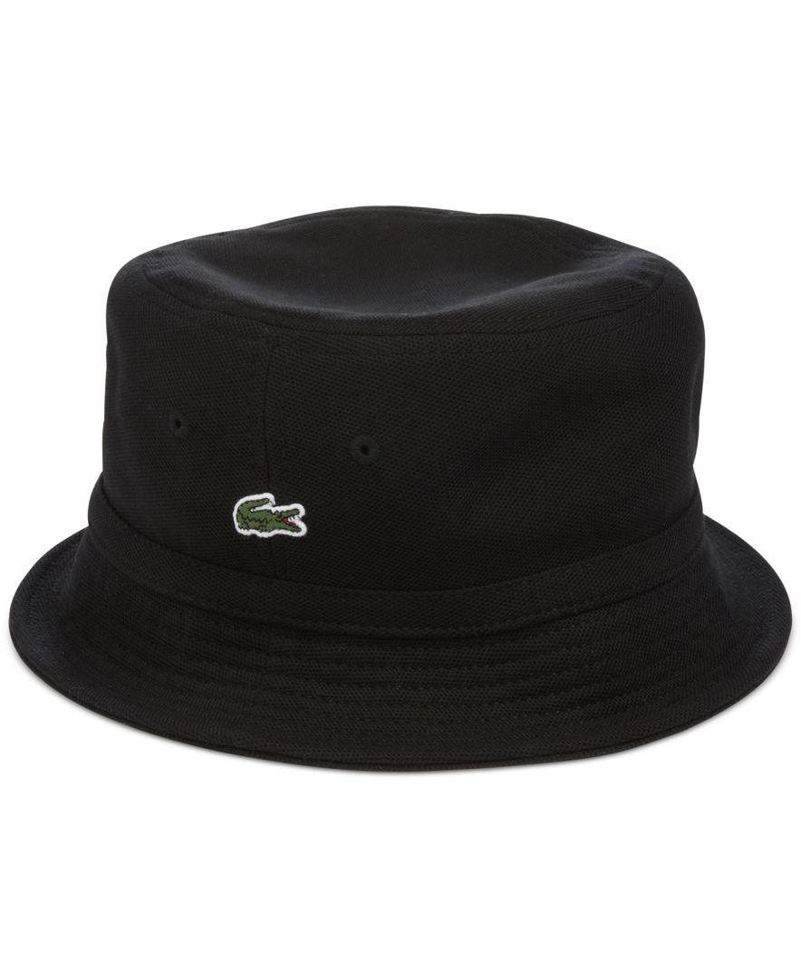 e2bb6f7c5d2bb Lacoste Pique Bucket Hat