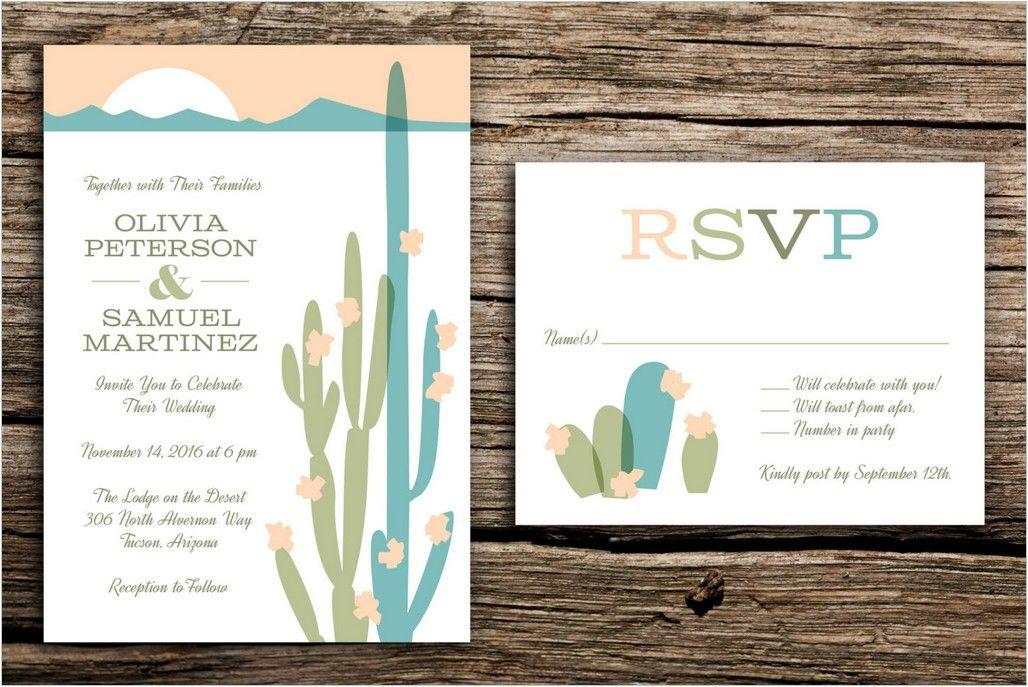 Desert Themed Wedding Invitations