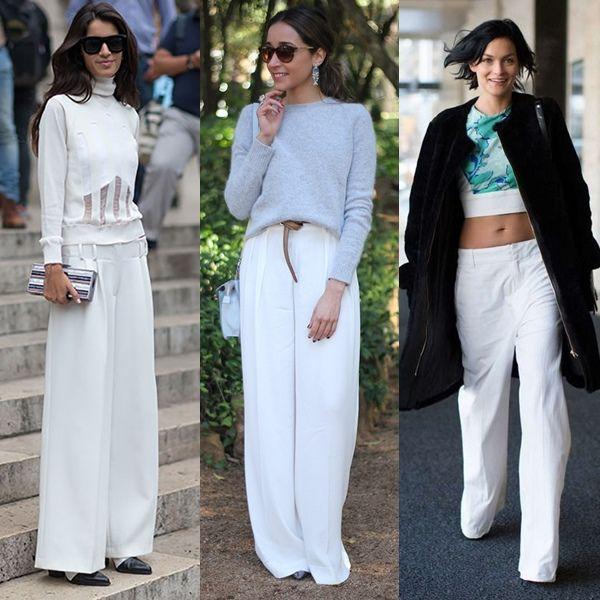 Manual De Uso De Los Pantalones Anchos Pantalones Anchos Pantalon Blanco Mujer Pantalones