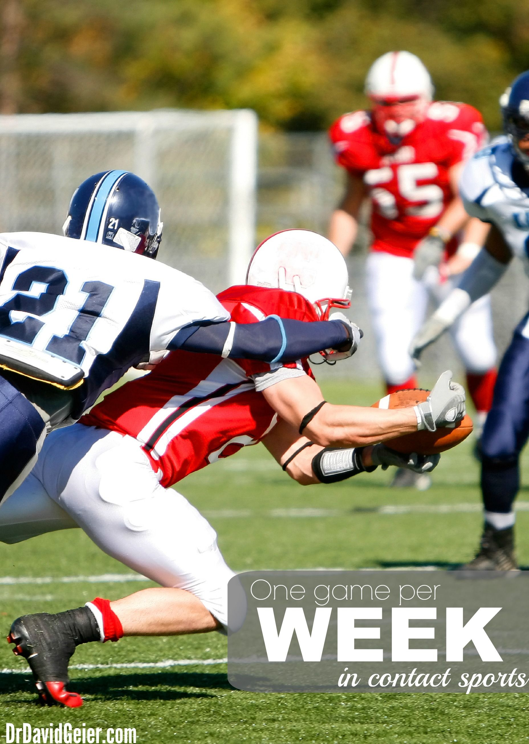 Avoid More Than One Game Per Week In Collision Sports Football