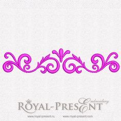 Decoration element – free machine embroidery design | Royal Present Embroidery