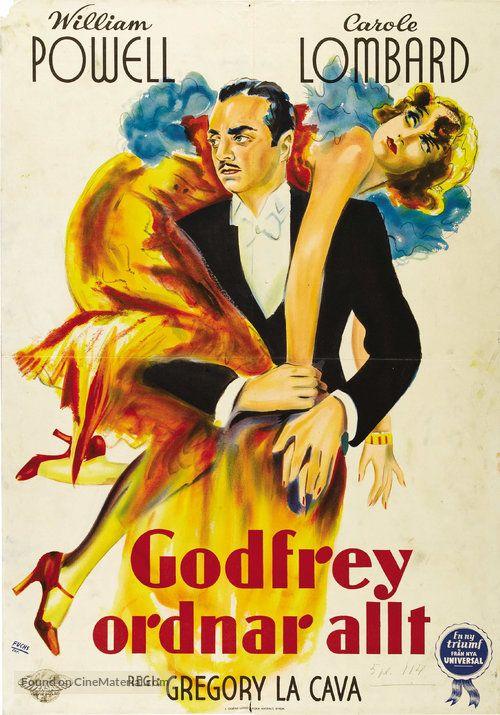 My Man Godfrey (1936) - Sweden | Retro | Movie posters